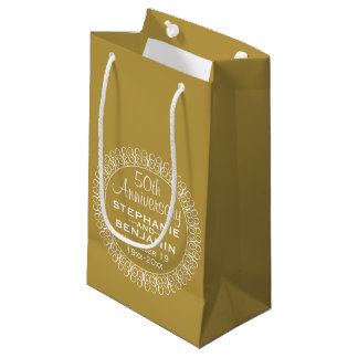 50th Wedding Anniversary Personalized Small Gift Bag