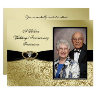 50th Wedding Anniversary Photo 4.25x5.5 Invitation