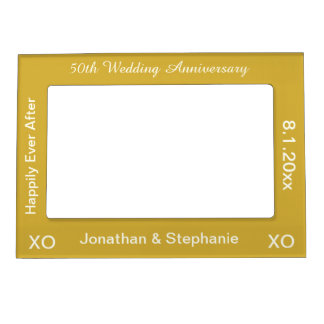 50th Wedding Anniversary Photo Frame Picture Frame Magnet