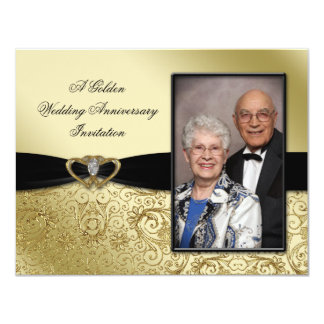 50th Wedding Anniversary Photo Invitation