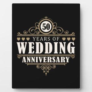 50th Wedding Anniversary Photo Plaque