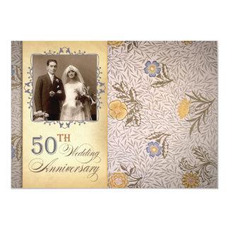 50th wedding anniversary photo vintage invites