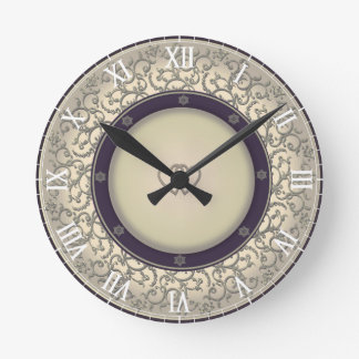 50th Wedding Anniversary Round Clock