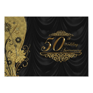 50th Wedding Anniversary RSVP 13 Cm X 18 Cm Invitation Card