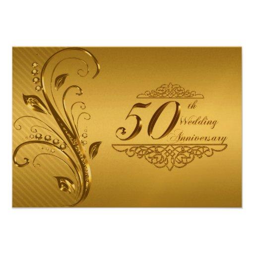 50th Wedding Anniversary RSVP Card Personalized Invitation