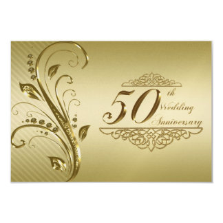 50th Wedding Anniversary RSVP Card Personalized Invites