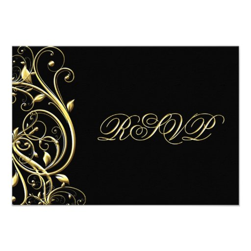 50th Wedding Anniversary RSVP Custom Invitations