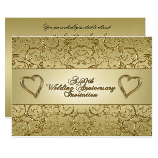 50th Wedding Anniversary RSVP Invitation Card
