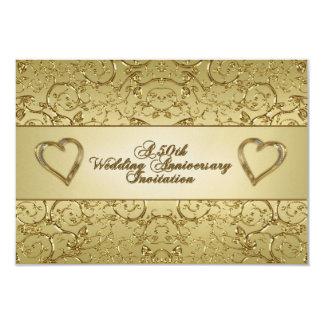 50th Wedding Anniversary RSVP Invitation Card