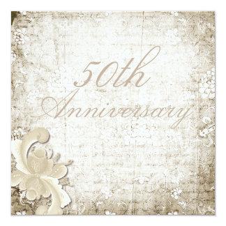 50th Wedding Anniversary Telemark Design 13 Cm X 13 Cm Square Invitation Card