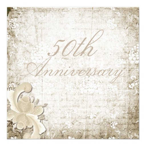 "50th Wedding Anniversary - ""Telemark"" Announcements"