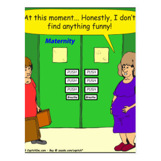 511 maternity ward push cartoon postcard