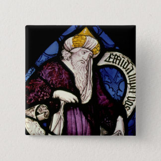 52:Roundel of the prophet Ezekiel, 15th century 15 Cm Square Badge