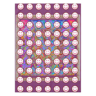 """52""""x70"""" tablecloth Colorful Abstract Smiley Art"""