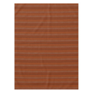 "52""x70"" tablecloth Colorful brown stripes bold"
