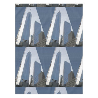 "52""x70"" tablecloth Freedom Tower New York USA"