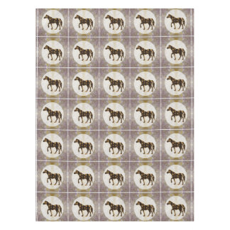 "52""x70"" tablecloth shades pattern HORSE Animal"