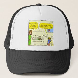 542 turtle in silverware drawer cartoon trucker hat