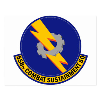 558th Combat Sustainment Squadron Postcard