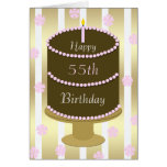 55th Birthday Card Cake in Pink