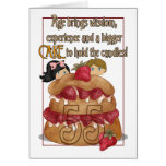 55th Birthday Card - Humour - Cake