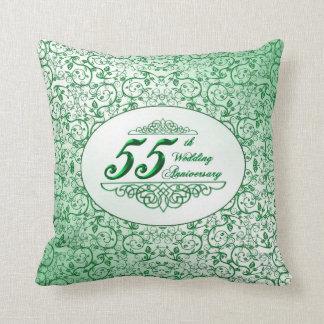 55th Wedding Anniversary Throw Pillow