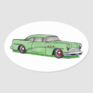 56 Buick 2 door Hardtop Oval Sticker