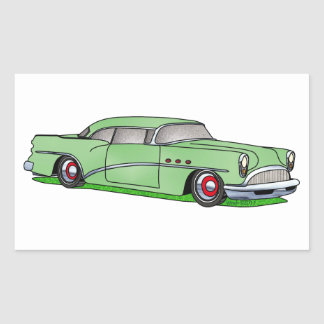 56 Buick 2 door Hardtop Rectangular Sticker