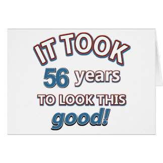 56th year birthday designs card