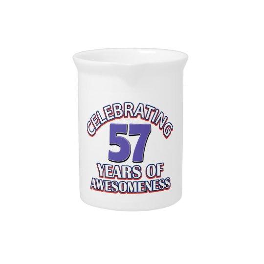 57 year old birthday gifts beverage pitcher