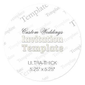 "5.25""x5.25"" Ultra Thick Custom Wedding Invitation"