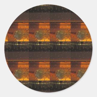 5* 5Star Golden Flavor Warm Luxury Print GIFTS ALL Round Sticker