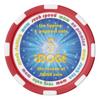 5 LDOGE Poker Chip Poker Chips