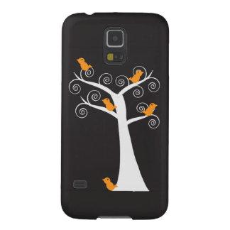 5 Orange Birds in Tree Samsung Galaxy Nexus Case