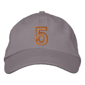 """""""5"""" Small Athletic Number Embroidered Hat"""