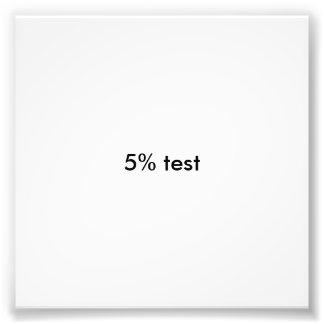 5 % test photographic print
