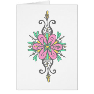 5 x 7 Greeting Card...Doodle Damask Note Card