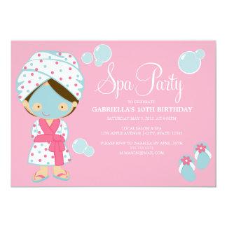 """5 x 7 Spa Party   Party Invite 5"""" X 7"""" Invitation Card"""