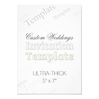 "5"" x 7"" Ultra Thick Custom Wedding Invitation"