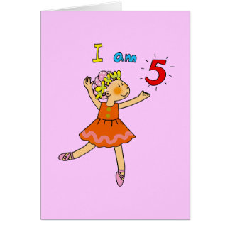 5 year old ballerina card