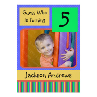 5 Year Old Birthday Party Invitations BOY
