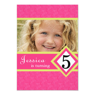 5 Year Old Birthday Party Invitations Zebra GIRL
