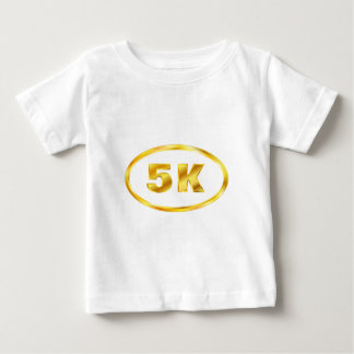 5K Gold Oval Runner Baby T-Shirt