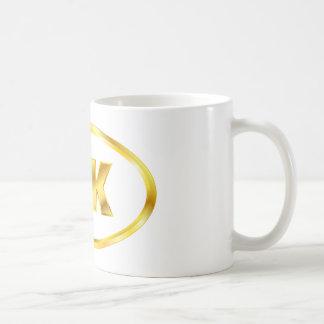 5K Golden Runner Oval Coffee Mug