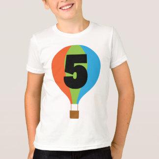 5th Birthday Hot Air Balloon T-Shirt