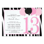 """5x7 13th Birthday Party Invite 5"""" X 7"""" Invitation Card"""