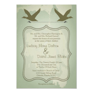 "5x7 Country Duck Hunting Rustic Wedding Invitation 5"" X 7"" Invitation Card"