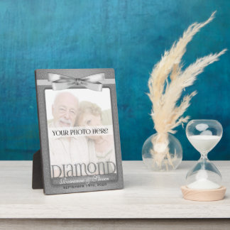 5x7 Diamond 60th Wedding Anniversary Photo Frame