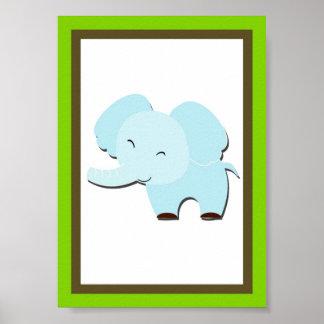 5X7 Elephant Jungle Animal Wall Art Poster