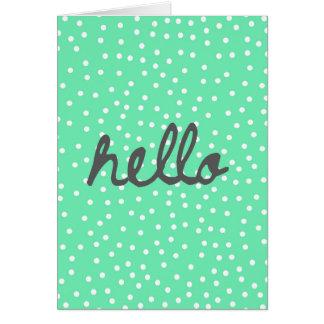 5x7 Greeting Card...Hello! Card